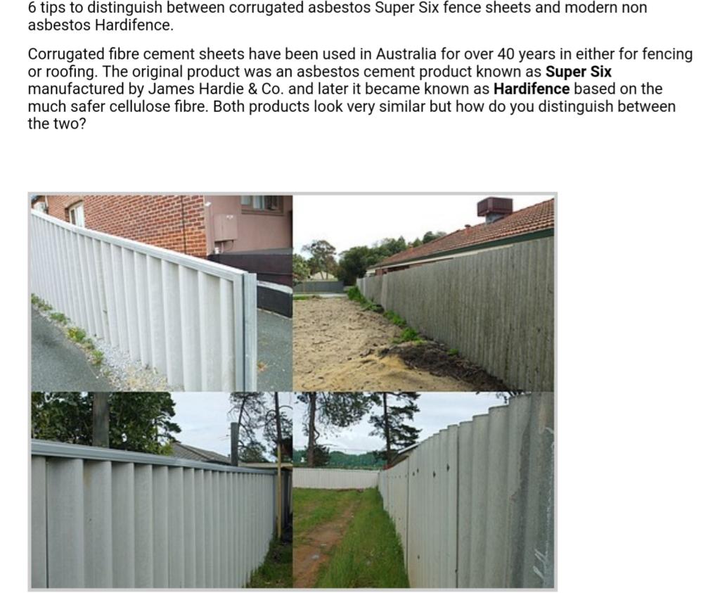 Asbestos fence vs non asbestos