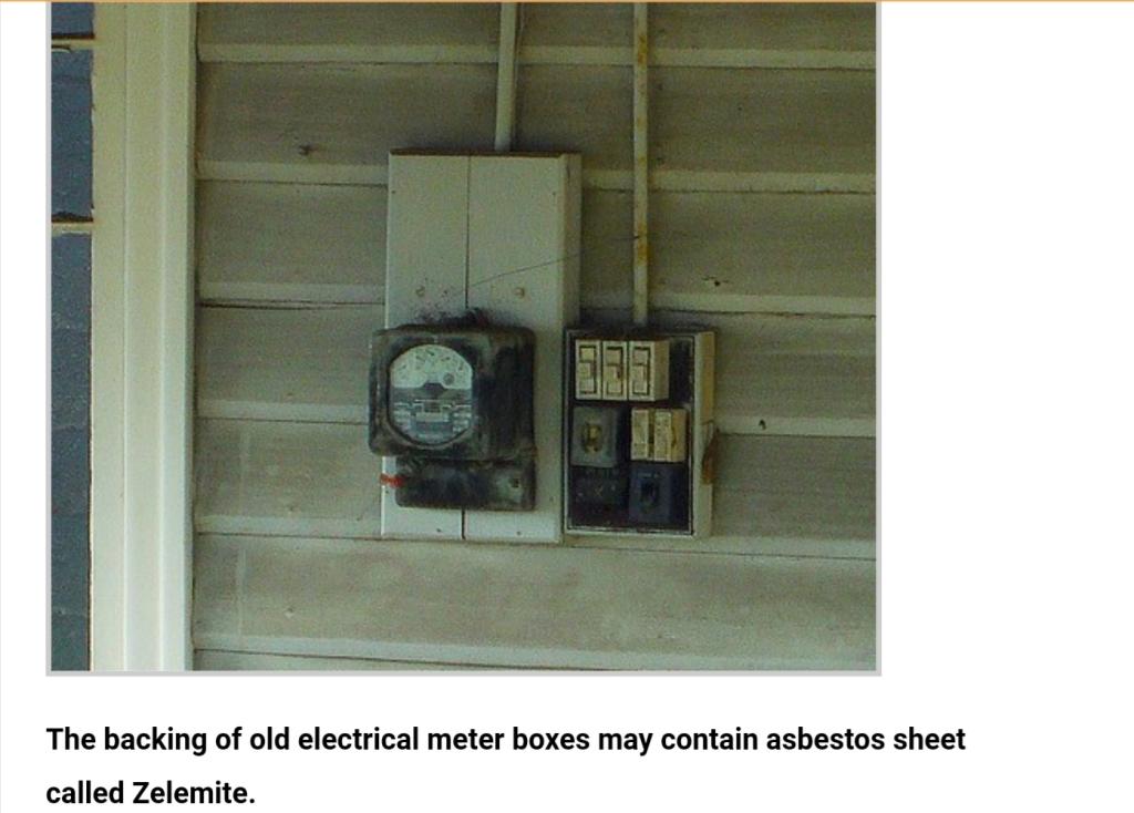 Asbestos meter box